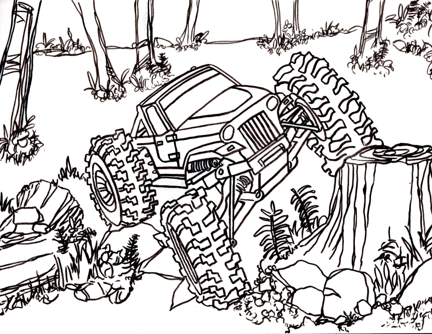 This is a graphic of Transformative rc car coloring pages