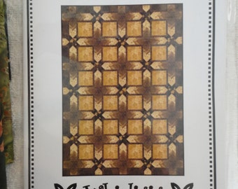 "Gold Rush Batik Quilt Kit With Pattern by Whirligig Designs - 68"" x 96"""