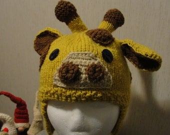 Knitted Giraffe Hat