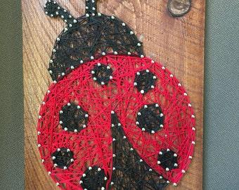 Ladybug String Art, Ladybug Art, Custom String Art