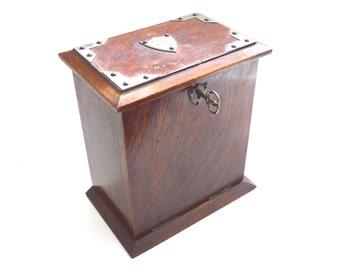 1913 Stationary Cabinet Antique letter box. Desk Stationary Box, Antique English Writing Desk Box. #641GA87K3E
