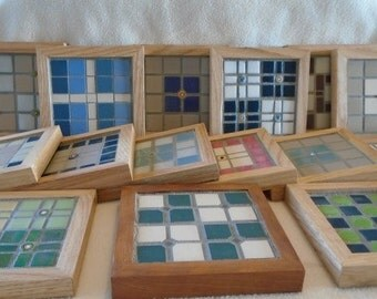 Custom Made Mosaic Coasters