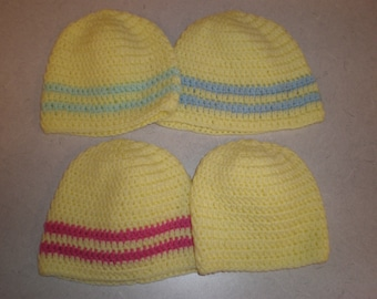 Pick your color Crocheted Baby Hats