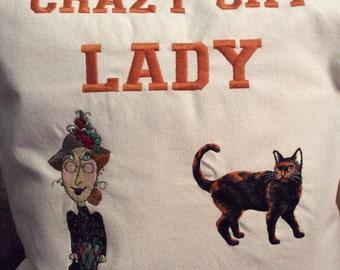 Crazy cat lady cushion