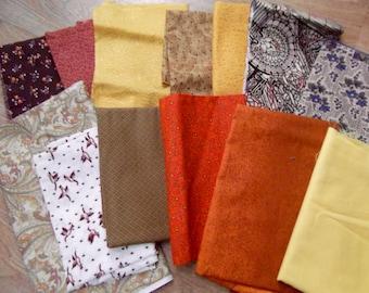 Vintage 100% cotton fabric pieces