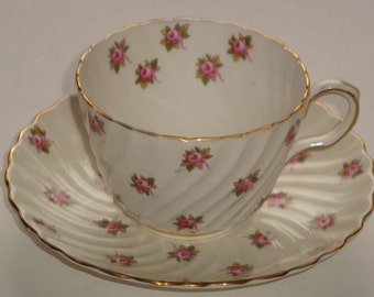 Aynsley Mini Roses Tea Cup and Saucer #2