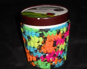 Ice Cream Cozy- Neon Variegated