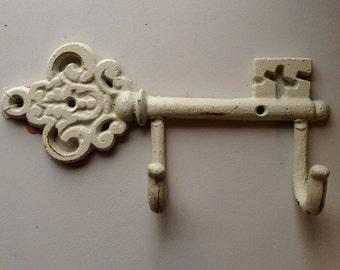 White iron Key Hook