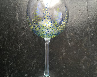Custom goblet wine glasses (4 per order)