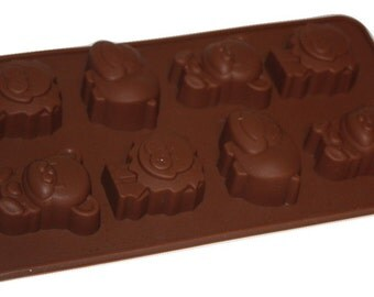 Taavi Bear, Hippo and Lion Silicone Mold (Candy, Chocolate, Ice Cube, Finger Jello, Butter) (T812)