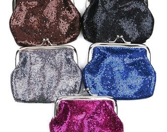 Vintage Style Glitter Coin Purse