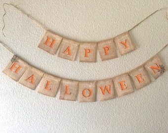 HAPPY HALLOWEEN Banner | Halloween Banner | Halloween Sign | Ready to Ship
