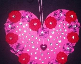Valentine hanging heart