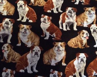 Timeless Treasure English Bulldog Fabric by the half yard