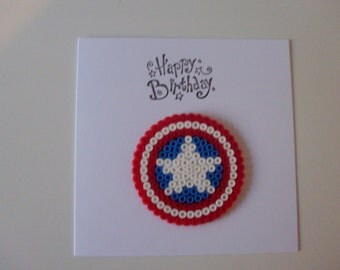 Captain Amercia Birthday Card
