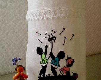 Light bag flower linen cotton lace Vasenhusse