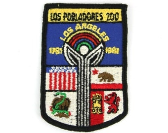 Los Pobladores #200 Los Angeles 1981 Vintage Patch