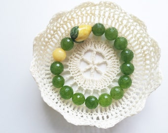 Sicily handmade bracelet with lemon charm