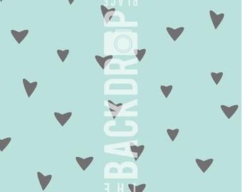 Photography Backdrop- Grey Hearts