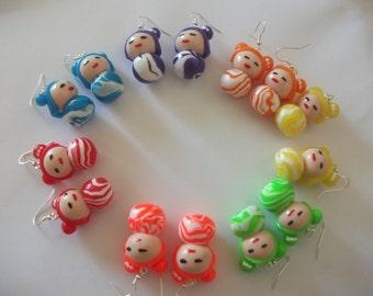 Earring Chinese kokeshi doll