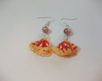 Pancakes fimo earrings