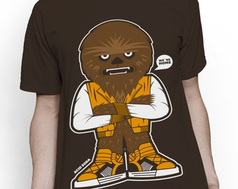 T-shirt t-shirt inspired by Chewbacca Star wars Chewie we are home tshirt