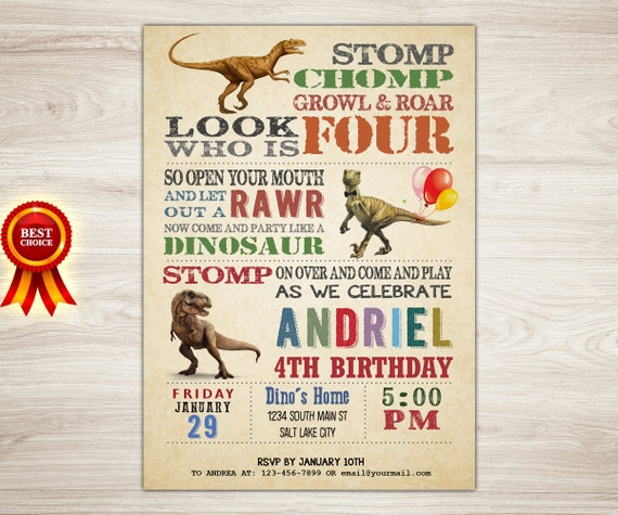 May The 4th Be With You Invitations: Dinosaur Birthday. Dinosaur Birthday Invitation Boy Kids 4th