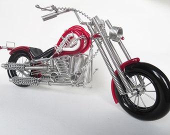Wonderful Red Harley Davidson Model, Red Harley Davidson Wire Bending Model Decoration,  Home Decor,