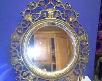 Brass bevelled mirror