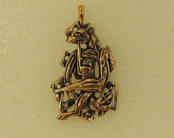 Pendant Two Wolf Celtica