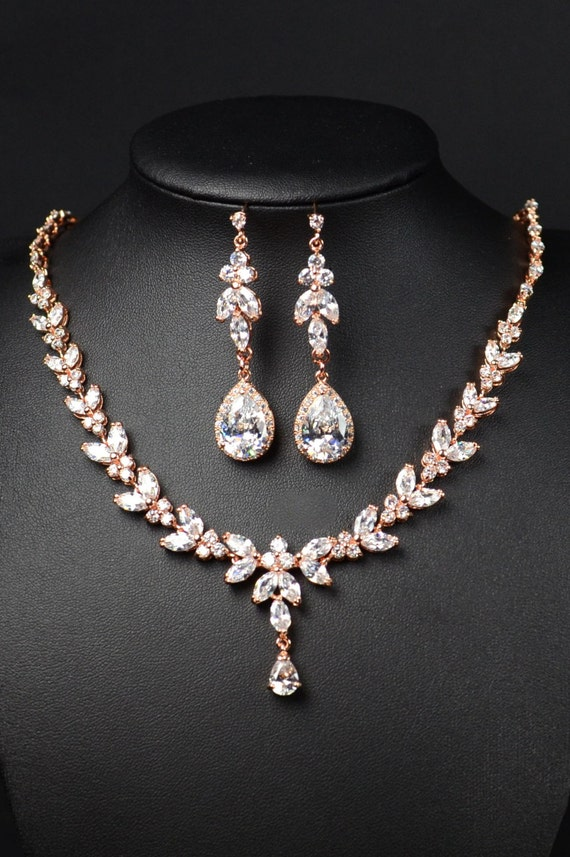 bridal jewelry set bridesmaid gifts jewelry set clear crystal. Black Bedroom Furniture Sets. Home Design Ideas