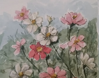 Floral watercolor painting