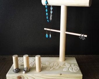 Jewelry Organizer with flowers details