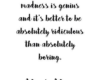 Marilyn Monroe Quote Print Download Digital