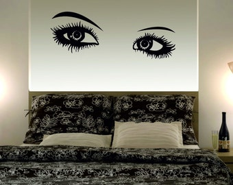 Wall Decal Eye Wall Decal Bedroom Vinyl Decals  Home Decor Wall Quote  Wall Stickers Wall Decal (1107)