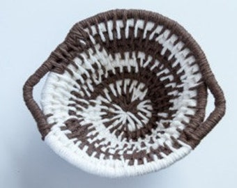 CLEARANCE - Neutral Hand Coiled Basket