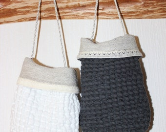 Eco Linen massage mitten/Organic Skin massager/Double Bath mitten/Shower mitten/loop for hanging/ designed and made by AnBerlinen