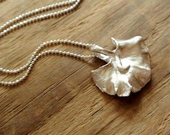 Fine Silver Handmade Leaf Necklace / Leaf pendant / Little leaf / Nature / One of a kind