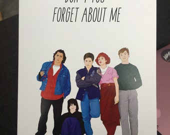 Breakfast Club Goodbye and Good Luck Greeting Card