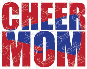Cheer Mom Cut File Knock Out Cheer Mom SVG  Cheerleading Cheer Cheerleader Clipart Svg Dxf Eps Png Silhouette Cricut Cut File Commercial Use