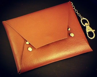 Leather Clutch with Belt Clip