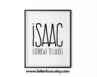 Isaac etsy for Decor meaning