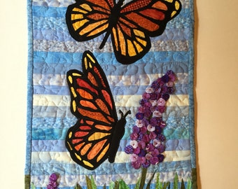 Quilted Butterfly Wallhanging