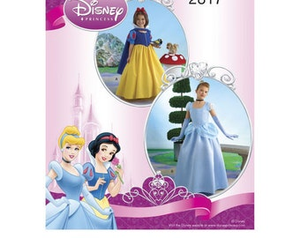 Sewing Pattern for Childs Disney Princess, Size 3 to 6, Simplicity 2817, Snow White & Cinderella, Girls Disney Princess Costumes