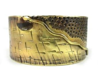 Dawn Convergence Brass Copper Cuff