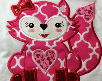 Girl fox Valentine's Day shirt