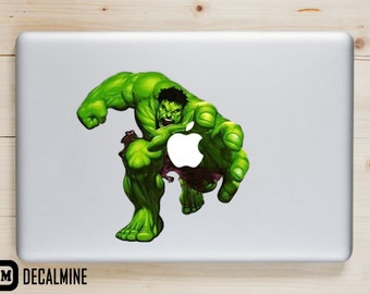 THE HULK MacBook Decal Vinyl Sticker Removable Vinyl Decal MacBook Pro Sticker MacBook Air Decal MacBook Decals The Hulk MacBook Sticker