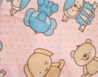 Baby Zoo Animals Fleece Blanket - Large 56 x 46