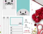 Seals Weekly Theme Planner Stickers |  Erin Condren | Life Planner | Horizontal & Vertical | Cute | Animals