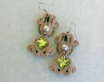 Soutache earrings # 16